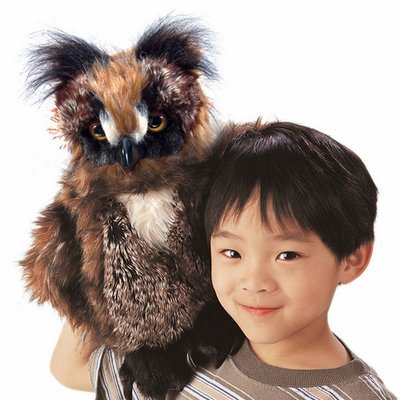 Folkmanis hand puppet great horned owl