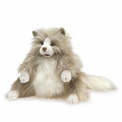 Folkmanis hand puppet fluffy cat