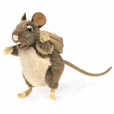Folkmanis hand puppet pack rat