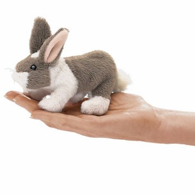 Folkmanis finger puppet mini rabbit