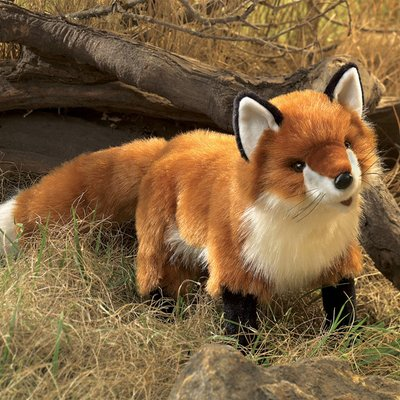 Folkmanis hand puppet red fox