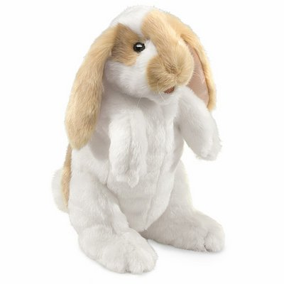 Folkmanis hand puppet standing lop rabbit