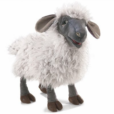 Folkmanis hand puppet bleating sheep