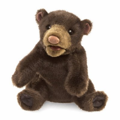 Folkmanis hand puppet small black bear