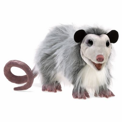 Folkmanis hand puppet opossum (new version)