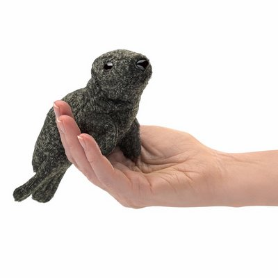 Folkmanis finger puppet mini harbor seal