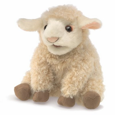 Folkmanis hand puppet small lamb (small stage puppet)