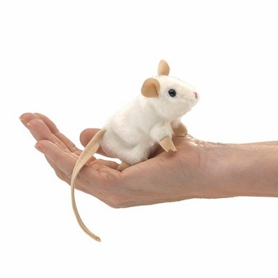 Folkmanis finger puppet mini white mouse