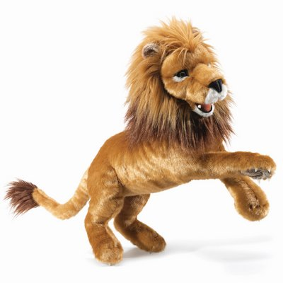 Folkmanis hand puppet lion