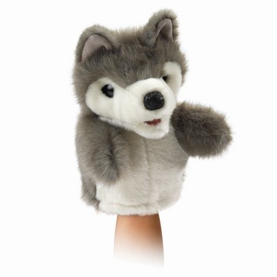 Folkmanis hand puppet little wolf (small stage puppet)